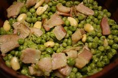 Chícharos con almendra /// 335 calorías