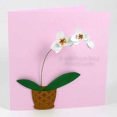 3D Paper Orchid Cards and Gift Box ideal for a by PaperZenShop