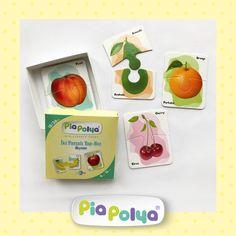 • 18-36 ay çocuklar için tasarlanmış, meyve çizimlerinden oluşmaktadır.  • İçeriği: 93mm x 118mm, kalın mukavva ve selefon kaplı 8 grup, 16 parça zeka geliştirci oyun kartlarıdır. Elma, armut, kiraz, muz, portakal, şeftali, çilek, avakado