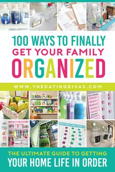 100 Organization Tips to FINALLY Get Your Family in Order! Top organization tips to get your family in order once and for all! The Dating Divas have gathered SO many amazing ideas here! Organisation Hacks, Household Organization, Life Organization, Bathroom Organization, Declutter Your Home, Organize Your Life, Organizing Your Home, Organizing Tips, Organized Mom
