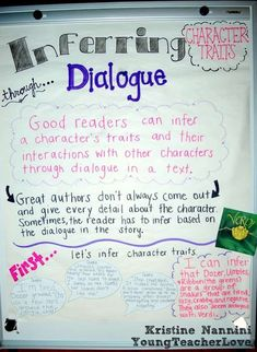 Inferring Character Traits Through Dialogue (Plus a Free Graphic Organizer)- Young Teacher Love by Kristine Nannini 5th Grade Ela, 5th Grade Reading, Second Grade, Fourth Grade, Eighth Grade, Grade 2, Reading Lessons, Teaching Reading, Guided Reading
