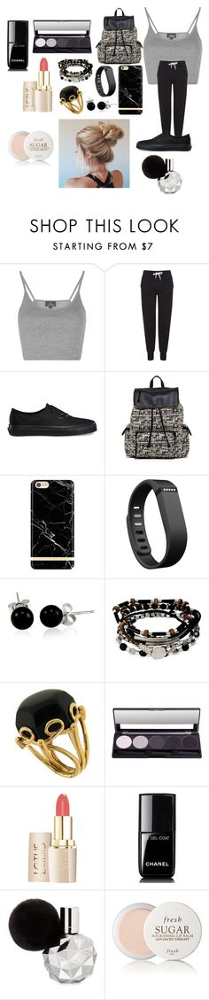 """""""Boredom.."""" by mrshemmings5sos ❤ liked on Polyvore featuring Topshop, Vans, Steve Madden, Richmond & Finch, Fitbit, Bling Jewelry, Kenneth Cole, Valentin Magro, Chanel and Fresh"""