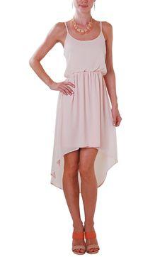 Pink Chiffon Hi Low Dress