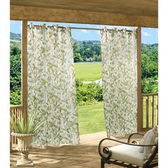 Floral Garden All-Weather Sheer Panels