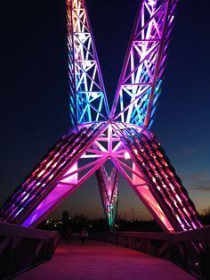 Sky Dance Bridge in #Oklahoma City #Oklahoma #OKC