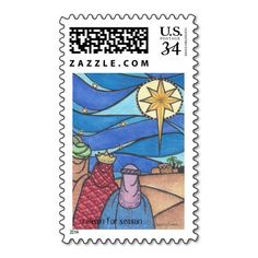 Holiday post card stamp