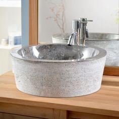 Exo Stri Grey Marble Washbasin Ground floor cloakroom