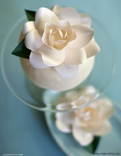 Gardenia of paper.  Template and Master Class (1) (542x700, 125Kb)