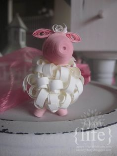 Quilled Small Sheep // Decor Figures // by APaperLifeOriginals, $14.00