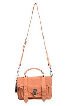 Proenza Schouler Women's Peach Suede Leather Handbag Shoulder Bag