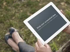 Outdoors with iPad. Generate marketing materials for your iPad app. Try it here: https://placeit.net/stages/woman-sitting-white-ipad-park Follow us for a chance to snag a free subscription coupon!