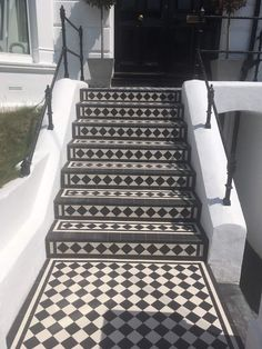 Victorian Terrace House, Victorian Tiles, Mosaic Tiles, Cement Tiles, Tile Steps, Terrace Floor, Front Steps, House Front, Tile Design