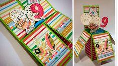 Tutorial tarjeta de cumpleaños pop up Dayka Trade Tarjetas Pop Up, Explosion Box, Advent Calendar, Gift Wrapping, Holiday Decor, Gifts, Youtube, Ideas, Happy