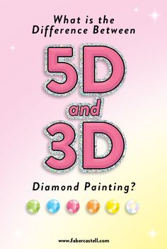 What is the difference between and diamond painting? Each diamond painting kit has its own unique qualities. Learn the difference between and diamond painting and much more! 3d Painting, Painting For Kids, New Crafts, Creative Crafts, Craft Kits For Kids, Craft Ideas, Happy Birthday Mom Quotes, Rhinestone Art, 5d Diamond Painting