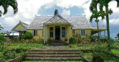 """Jamaican 18th century plantation house--perhaps """"Jared's plantation at Sugar Bay called Blue Mountain House, the overseer and his wife were a portly, comfortable Scottish couple, the MacIvers.""""   Voyager by D. Gabaldon"""