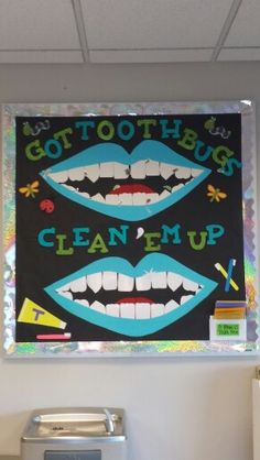Dental assisting bulletin board project!  :) toothbugs! Get those kiddies to brush their teeth!