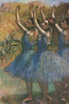 Google Image Result for http://www.ibiblio.org/wm/paint/auth/degas/ballet/degas.violet-tutues.jpg    Degas, 1899