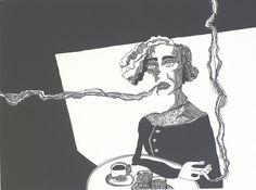 """FOCUS sur une oeuvre : """"La femme qui fume"""" de Matthieu Exposito"""