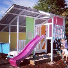 Gorgeous colours on this Mega Triplex. My Cubby deliver Australua wide. #kids #play #cubbyhouse