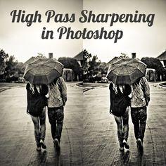 High Pass Sharpening in Photoshop - great tutorial Image Editing, Photo Editing, Photoshop Illustrator, Photoshop Tips, Graphic Design Tutorials, Typography Design, Digital Scrapbooking, Fonts, Illustration