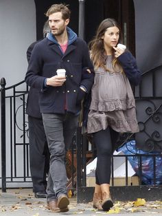Jamie Dornan and His Wife | Fifty Shades of Grey actor Jamie Dornan and his pregnant wife Amelia ...