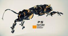 ArtStation - Futuristic panther, Vladislav Ociacia