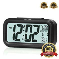 Digital Alarm Clock Smart Controllable Backlight Smart Clean Simple Design Gift #ZHPUAT