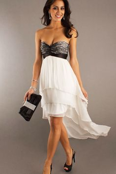 Sexy Lace Sweetheart A-line Chiffon High Low Prom Dress , tailor-made, 40 color optional . Only $$98.99 . http://www.ulovee.com/sexy-lace-sweetheart-aline-chiffon-high-low-prom-dress_p587.html