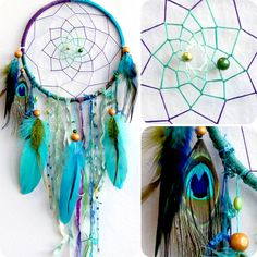 The Peacock Native Woven Dreamcatcher by eenk on Etsy