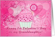 Happy 1st Valentine's Day To My Granddaughter Card by Greeting Card Universe. $3.00. 5 x 7 inch premium quality folded paper greeting card. Find cards for everyone on your list at Greeting Card Universe. Show your loved ones you care with a custom paper card to make the occasion memorable. Let Greeting Card Universe help you find the best card this year. This paper card includes the following themes: valentine, granddaughter, and hearts. Set your paper cards apart this year...