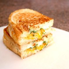 Jalapeno Popper Grilled Cheese - Spicy, cheesy, crispy... it all comes together in this Jalapeno Popper Grilled Cheese!