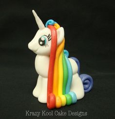 My Little Pony Rainbow Cake Topper - Cute!