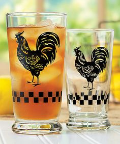 Love this Rooster 12-Piece Glass Set by Libbey on #zulily! #zulilyfinds