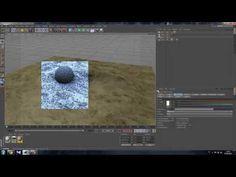 Tutorial Cinema 4D Texture Terrain - YouTube