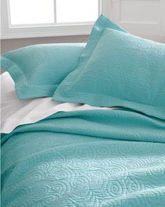 Tumbled Swirl Coverlet and Sham - D 88x94 $118; Q 94x98 $128; K 108x98 $148, 2 Shams $70