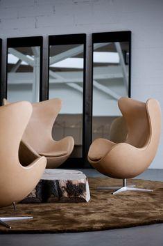 """Fritz Hansen Egg Chair """"Das Ei"""", Design Arne Jacobsen. Bei prooffice.de"""
