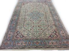 Blauw Perzisch Tapijt : Perzisch tapijt hardwerk fogeltje