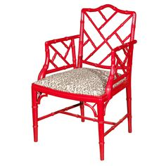 Chippendale Style Bamboo Sqaure back Armchair