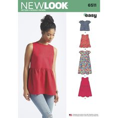 6290 Misses/' Shorts Rock /& Hose Nähen Muster New Look Größen 4-16