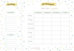 9 Ww Rezepte Ideen Wochenplan Vorlage Planer