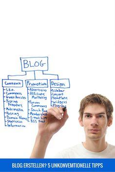 Blog erstellen? 5 unkonventionelle Tipps um sofort loszulegen Du stehst kurz davor, Deinen ersten eigenen Blog zu erstellen? Lies Dir diesen Artikel durch und schreibe mir Deinen Kommentar darunter.