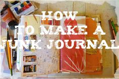 As the days are getting shorter and the time spent outdoors decrease, it's the perfect moment to start a new journal, especially when you can create your own journal out of junk you already h…