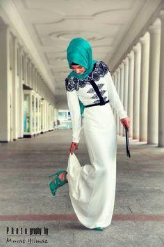 ♥ Muslimah fashion hijab style | Style | Hijab dress, Hashtag ...