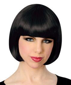 Loving this Black Short Wig - Adult on #zulily! #zulilyfinds