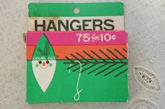 Vintage 60s Box of Christmas Ornament Hangers by SycamoreVintage