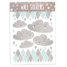 Wallstickers Mint Cloud Watercolor