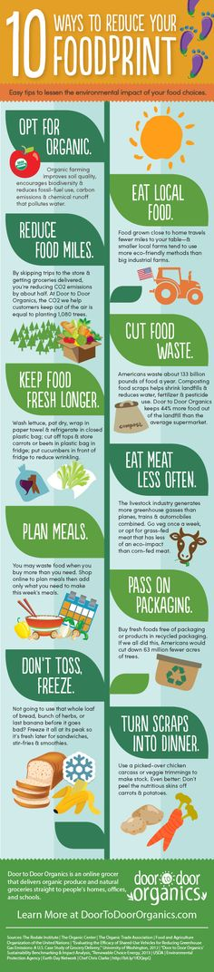 As we count down to Earth Day, check out this list of 10 easy ways to lessen your foodprint & learn how small changes can make a big difference.