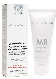 """Anticelulítico efecto mesoterapia. Para casos de celulitis severa o enquistada. Rápida absorción de los activos reductores. Rápida y visible mejoría en el aspecto de """"piel de naranja""""."""