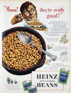Heinz Oven-Baked Beans ~ Vintage Ad