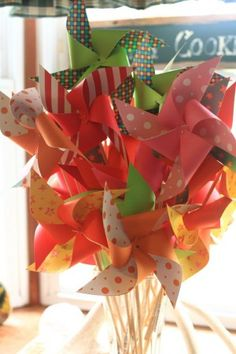 DIY Pinwheels - I made these! Great tutorial!